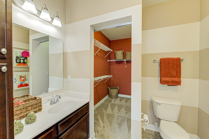 Model home bathroom in Indianapolis